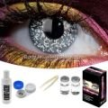 Glimmer Black Silver Contact Lens Complete Set