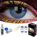 Blue 3 Tone Contact Lens Complete Set