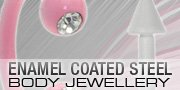 Enamel Coated Steel Body Jewellery