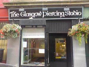 Glasgow piercing studio