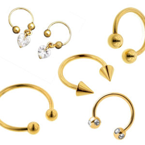 Gold Plated Circular Barbells