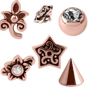 Rose Gold Threaded Accessories