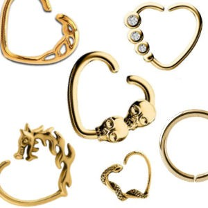 Gold Plated Seamless Rings