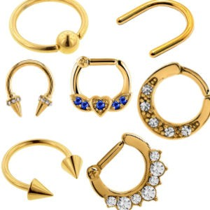 Gold Plated Septum Jewellery