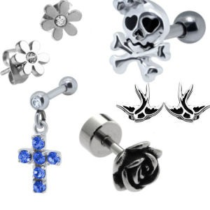 Surgical Steel Lobe & Upper Ear Studs