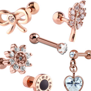 Rose Gold Tragus Studs