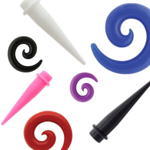 Silicone Stretching Tapers & Spirals