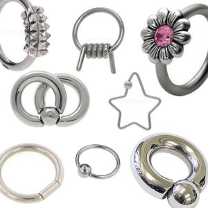 Surgical Steel Ball Closure Rings