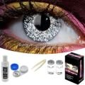 Glimmer Silver Contact Lens Complete Set
