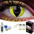 Yellow Cat Contact Lens Complete Set