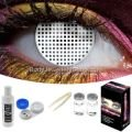 White Mesh Contact Lens Complete Set