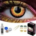 Orange Werewolf Contact Lens Complete Set