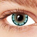 Aqua Blue Daisy Contact Lenses