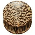 Concave Wood Plug - Coconut