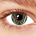 Green Butterfly Contact Lenses