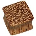 Square Wooden Flesh Plug - Coconut Wood