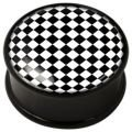 PMMA Ikon flesh plug - Ikon Plug Optical Art Chessboard