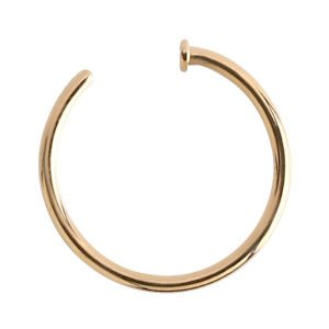 18ct Gold Open Nose Ring