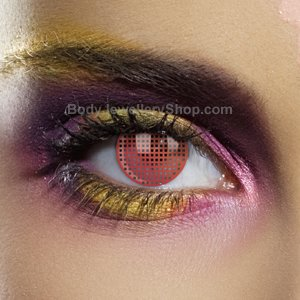 Colour Vision Red Mesh Contact Lenses (Pair)