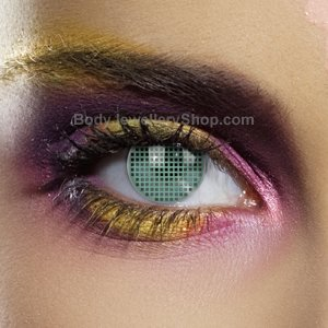 Colour Vision Green Mesh Contact Lenses (Pair)