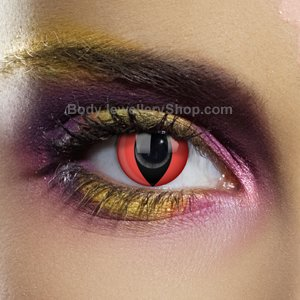 Colour Vision Red Cat Contact Lenses (Pair)