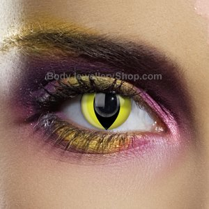 Colour Vision Yellow Cat Contact Lenses (Pair)