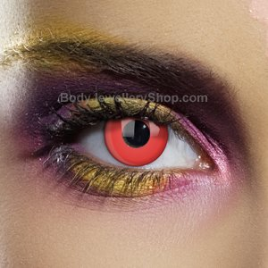 Colour Vision Devil Red Contact Lenses (Pair)