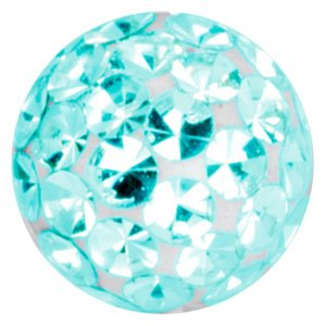 Crystal Cluster Threaded Ball - Blue Zircon