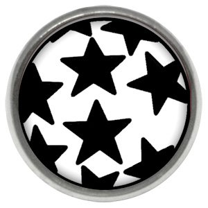 Titanium Internally Threaded Ikon Disc - Black Stars on White