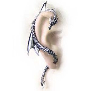 Alchemy Gothic The Dragon's Lure Wrap Earring (Single)
