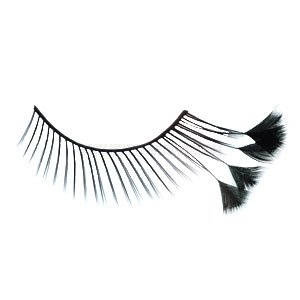 False Eyelashes - Feathers Black