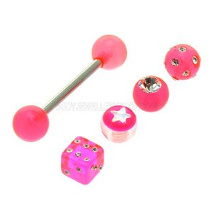 Pink Barbell & Threaded Balls Bonus Pack