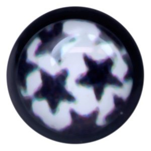 Blackline Internally Threaded Ikon Disc - Black Stars on White