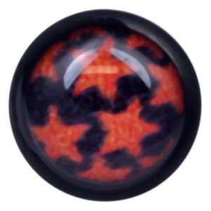 Blackline Internally Threaded Ikon Disc - Red Stars on Black