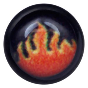 Blackline Internally Threaded Ikon Disc - Flame