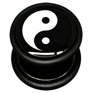 Fake Mirage Ikon Flesh Plug - Yin and Yang