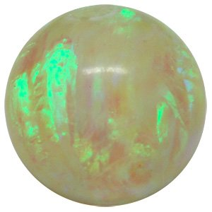 Synthetic Opal Clip-In Captive Ball - Yellow