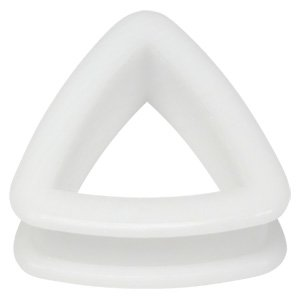 Triangle Silicon Flesh Tunnel - White