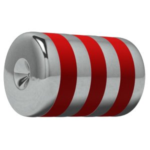 Titanium ART-tech Carousel Clip-In Tropical Cylinder - Red