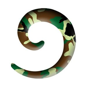 Acrylic Spiral Ear Stretcher - Camouflage