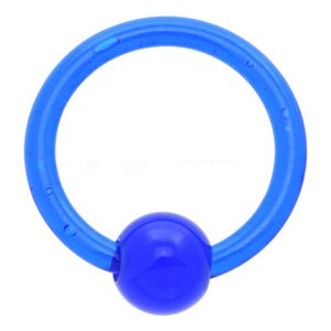 Ultra Violet Ball Closure Ring - Blue