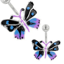 Butterfly Belly Button Bars