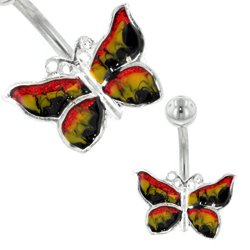 Belly Bar (Multi Hand Painted Butterfly)
