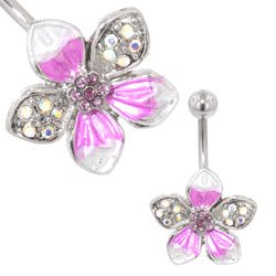 Flower Belly Bar (Purple Tropical)