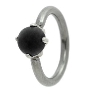 Milk Jewel Belly Ring - Black