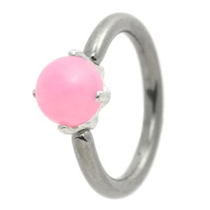 Milk Jewel Belly Ring - Pink