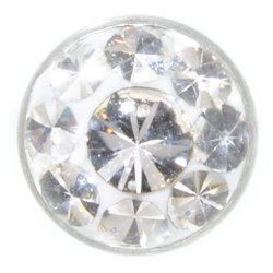 Belly Jewel Threaded Ball (Clear Dot)