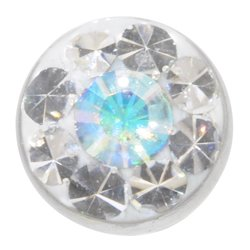 AB Crystal Jewelled Threaded Ball