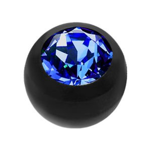 Black Bioflex Jewelled Push-Fit Ball - Blue