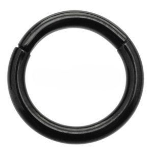 Black Steel Smooth Segment Ring